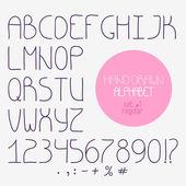 Decorative doodle alphabet. Regular font — Stock Vector
