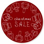 Vector Christmas sale sticker for perfume shop — Foto Stock