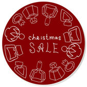 Vector Christmas sale sticker for perfume shop — Stock fotografie