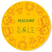 Vector sticker sale for perfume shop — Stock Photo