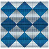 Vector knitted seamless pattern — Stock Photo