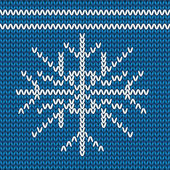Knitted christmas pattern — Stock Photo