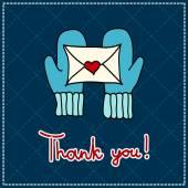 Vector thank you card — Stock Photo