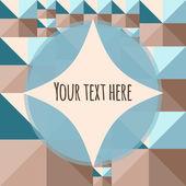 Geometryczne streszczenie tło z ramą dla tekstu lub zdjęć — Wektor stockowy