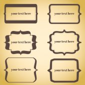 Set of frames and labels. vignette with space for your text.  — Stock Vector