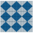 Knitted seamless pattern of blue and white rhombuses — Stock Vector #59569151