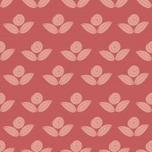 Seamless simple pattern with flower, rose, stems — Stock Vector