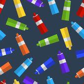 Padrão sem emenda de tubos coloridos de tinta plana — Vetor de Stock