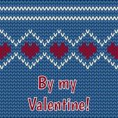 卡-祝贺情人节那天在黑色的背景 — 图库矢量图片