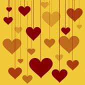 Иллюстрация гирлянды векторного дня святого Валентина фона сердец, свадьбы — Cтоковый вектор