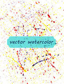 Background of watercolor paint spray — ストックベクタ