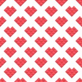 Seamless pattern hearts of triangles — Stock Vector