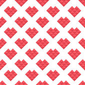 Seamless pattern hearts of triangles — Wektor stockowy