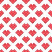 Χωρίς ραφή πρότυπο καρδιές των τριγώνων — Διανυσματικό Αρχείο
