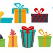 Set of different gift boxes. Flat design. — Stock Vector #69062045