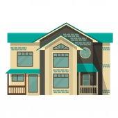 Oggetto isolato cottage design piatto. — Vettoriale Stock