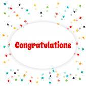 Vector greeting card. Congratulate. — Stock Vector