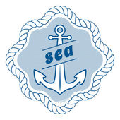 Vector vintage nautical label, icon and design element — Stock Vector