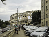 Amphitheater 1st century AD in Pula — Foto de Stock