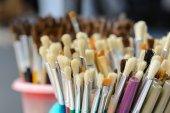Close up hair of paintbrush. — Stock Photo