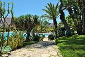 Mediterranean park ceuta — ストック写真