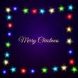 Colourful Glowing Christmas stars — Stock Vector #65445473