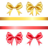 Colorful silk bows on white background — 图库矢量图片