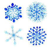 Snowflake winter set on white background. — Stock Vector