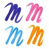 Брендинг корпоративный логотип буквы M — Cтоковый вектор