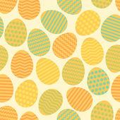 Seamless easter egg spring colorful pattern — Stock Vector