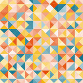 Amazing colorful yellow-blue vintage geometric pattern — Stock Vector