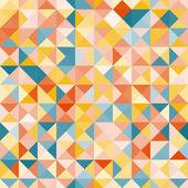İnanılmaz renkli sarı-mavi vintage geometrik desen — Stok Vektör