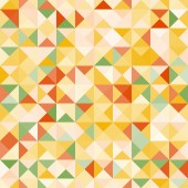 Amazing colorful yellow-green vintage geometric pattern — Stock Vector