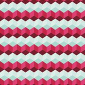 Amazing colorful blue-pink vintage geometric pattern — Stock vektor