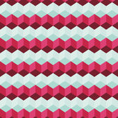 Amazing colorful blue-pink vintage geometric pattern — Stockvektor