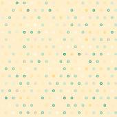 Amazing colorful beige vintage geometric dots pattern — Stock vektor