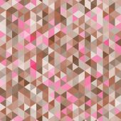 Amazing colorful pink-brown vintage geometric mosaic triangle pattern — Stock Vector