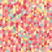 Amazing colorful pink vintage geometric mosaic triangle pattern — Vector de stock
