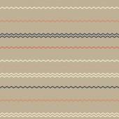 Amazing colorful dark-beige vintage geometric stripe pattern — Stock Vector