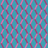 Amazing pop-art blue vintage geometric element pattern — Stock Vector