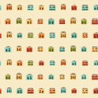 Vintage colorful small houses pattern — Stock Vector #67519357
