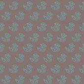 Amazing vintage duck brown outline pattern — Cтоковый вектор
