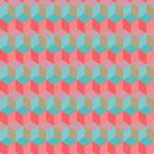 Vintage colorful geometric pink-blue pattern — Stock Vector