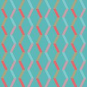 Vintage colorful geometric pink-blue stripes pattern — Stock Vector