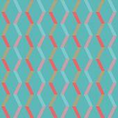 Vintage renkli geometrik pembe-mavi çizgili desen — Stok Vektör