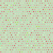 Vintage colorful geometric green dots pattern — Stockvektor
