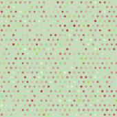 Vintage colorful geometric green dots pattern — Vector de stock
