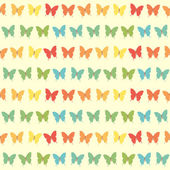 Seamless colorful butterfly pattern — Stock Vector