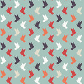 Vintage geometric colorful pigeon pattern — Stock Vector