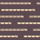 Vintage brown train pattern — Stock Vector